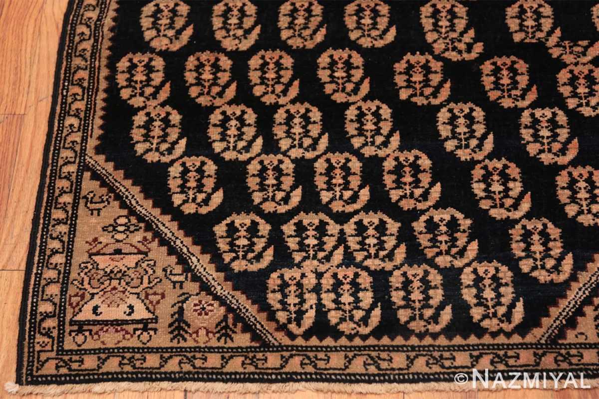 Corner Antique Paisley design Persian Malayer runner rug 50419 by Nazmiyal