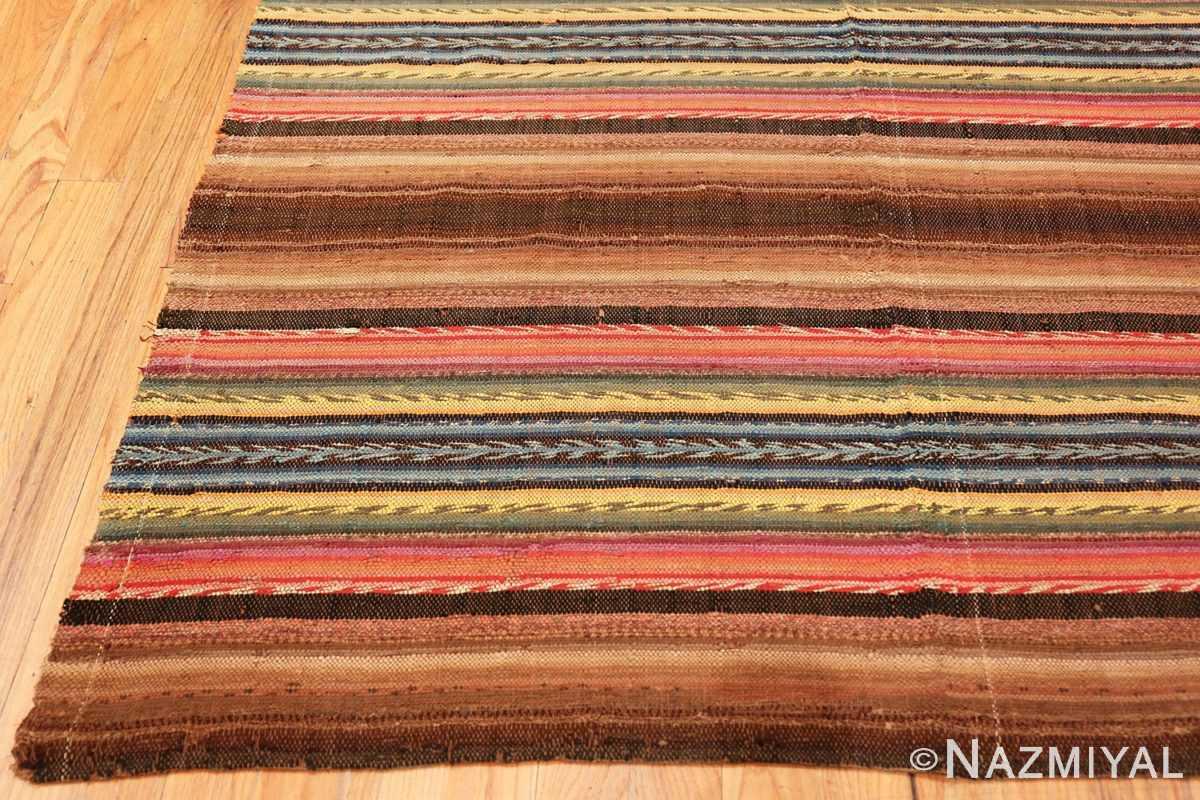 Corner Antique America rag rug 48669 by Nazmiyal