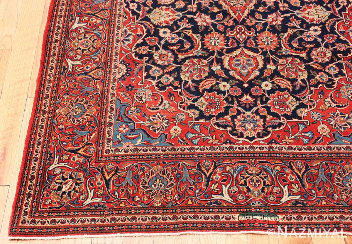 Corner Classical Antique Persian Kashan rug 50413 by Nazmiyal