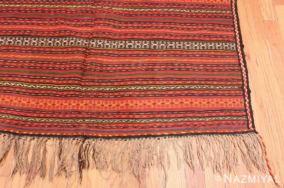Corner Vintage tribal Turkish Kilim rug 50383 by Nazmiyal