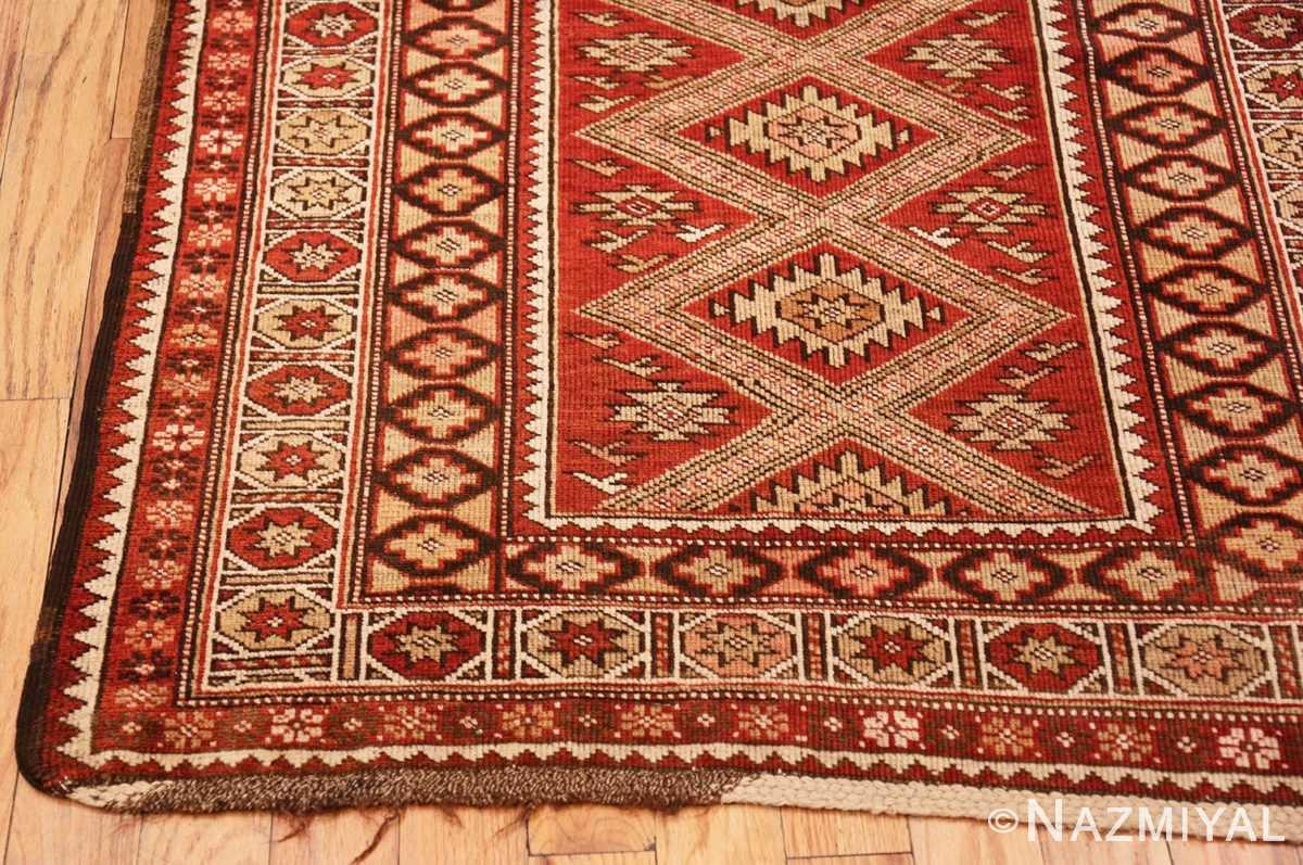 Corner Vintage Tribal Turkish rug 50402 by Nazmiyal