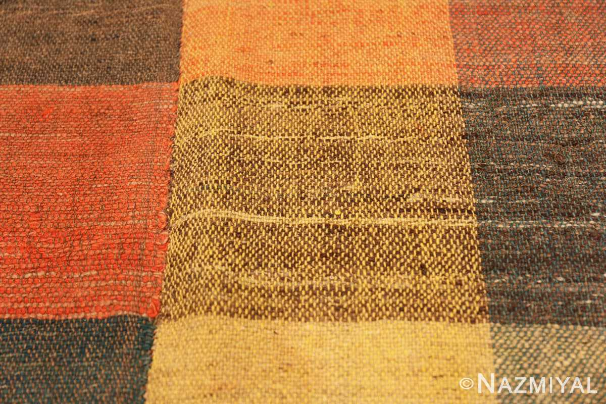 Detail Antique gallery size American rag rug 48665 by Nazmiyal