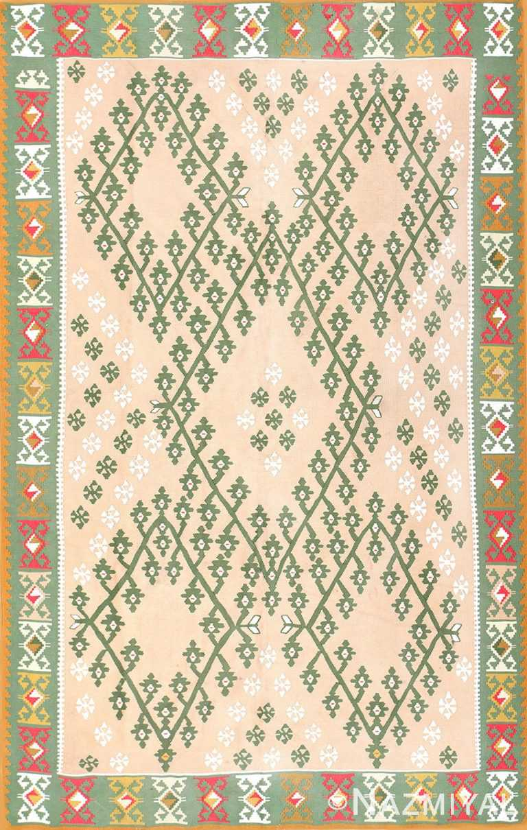 Festive Geometric Turkish Kilim Carpet 50432 Nazmiyal
