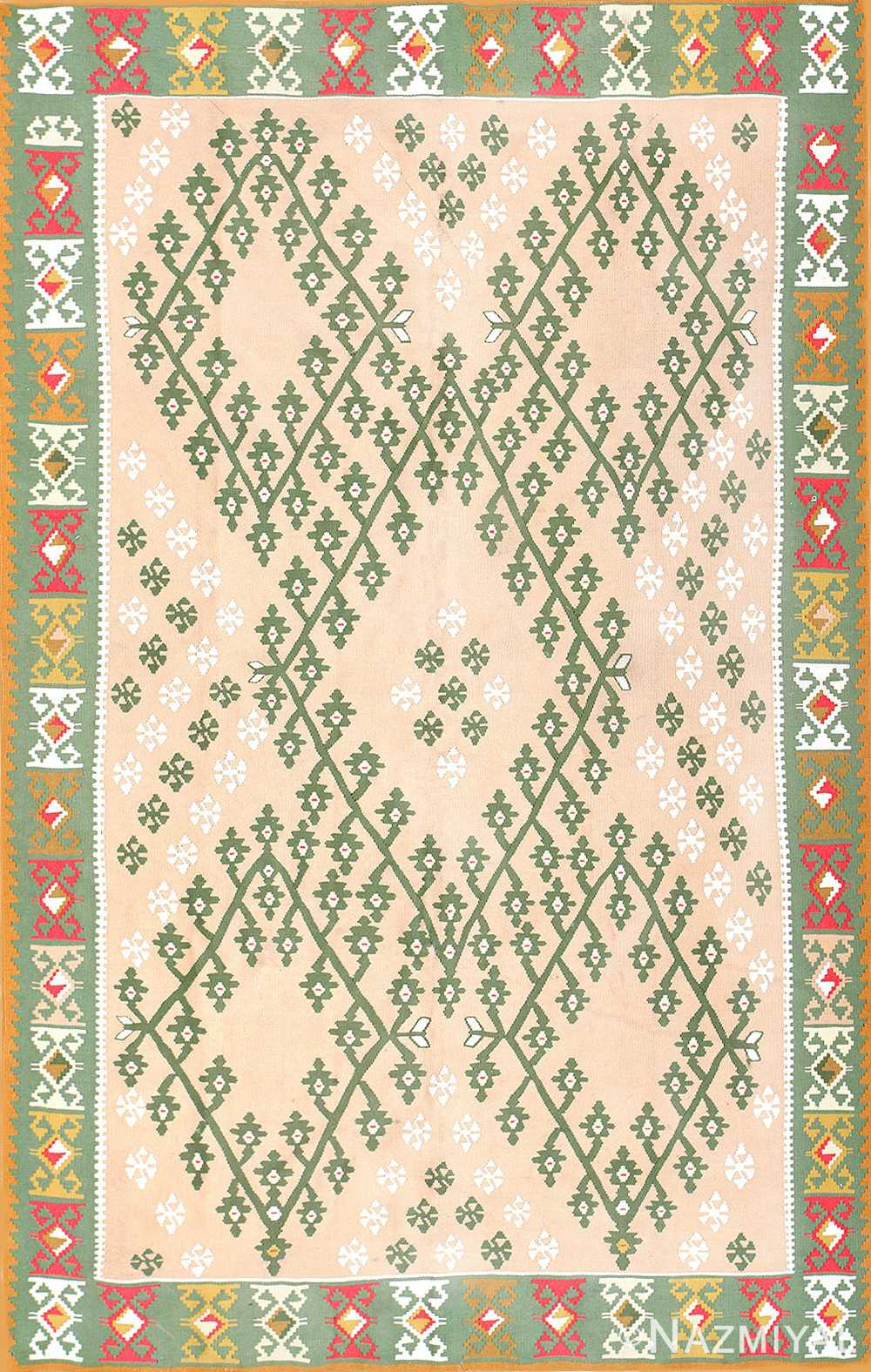 Festive Geometric Turkish Kilim Carpet 50432 Nazmiyal