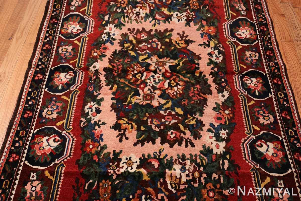 Field Red floral Vintage Persian Bakhtiari rug 50429 by Nazmiyal