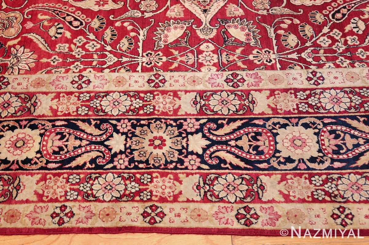 fine red antique floral kerman rug 50370 border Nazmiyal