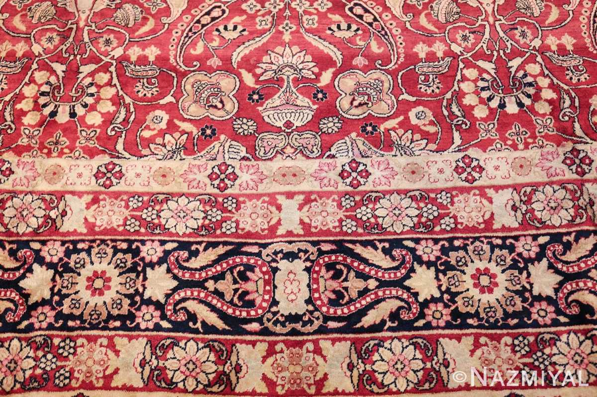 fine red antique floral kerman rug 50370 design Nazmiyal
