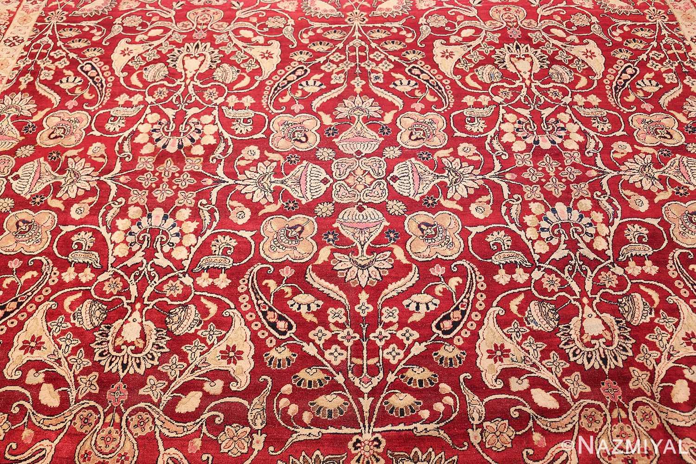 Floral Antique Fine Red Kerman Rug 50370 By Nazmiyal