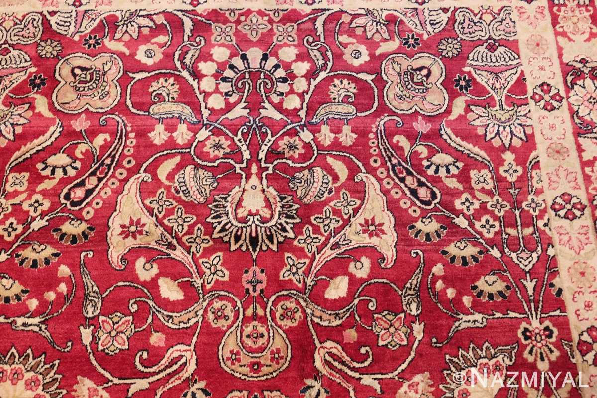 fine red antique floral kerman rug 50370 part Nazmiyal