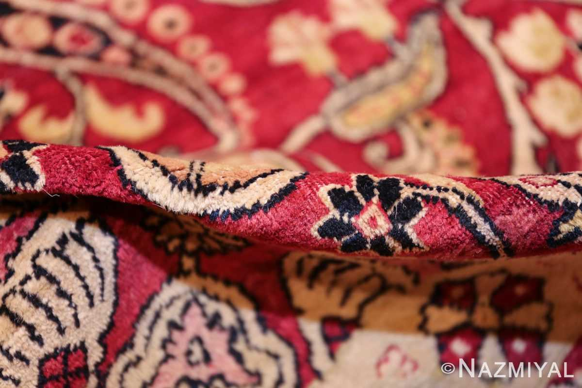 fine red antique floral kerman rug 50370 pile Nazmiyal