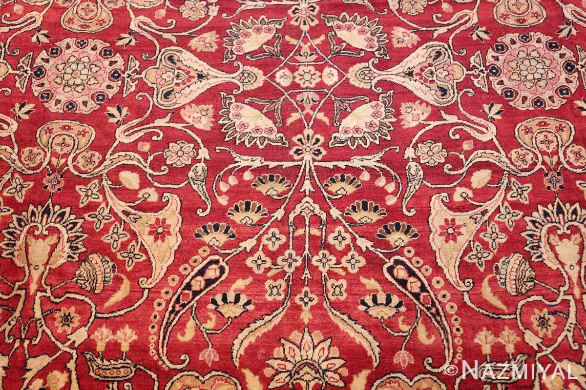 fine red antique floral kerman rug 50370 scrolls Nazmiyal