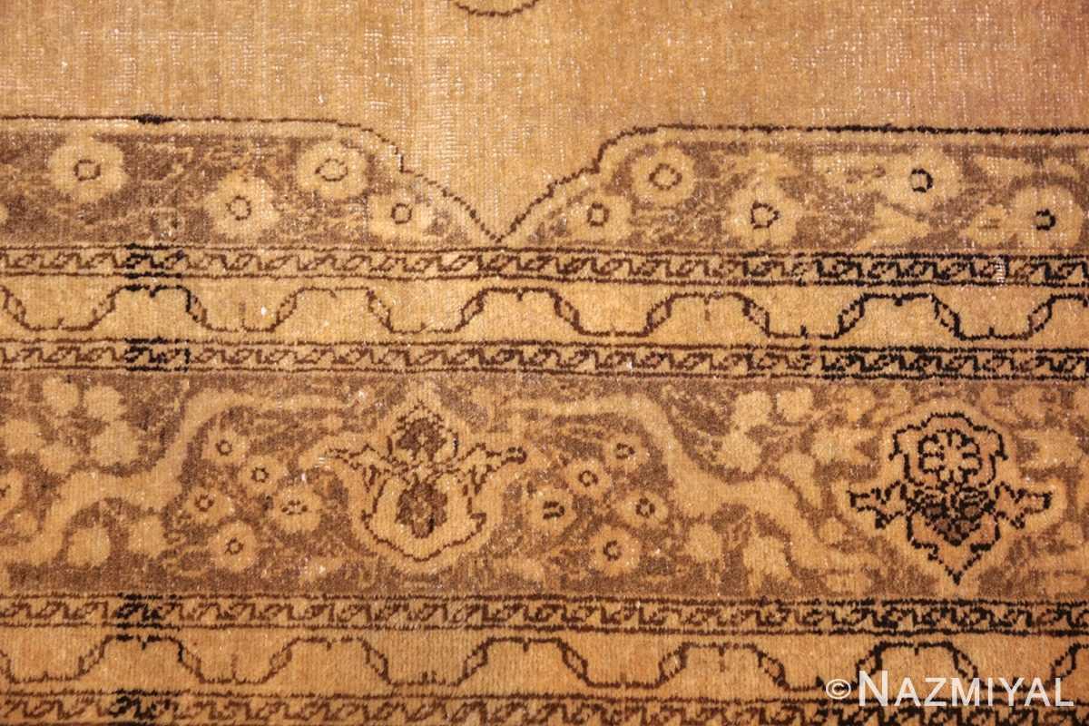 fine scatter size antique persian tabriz rug 50401 border Nazmiyal