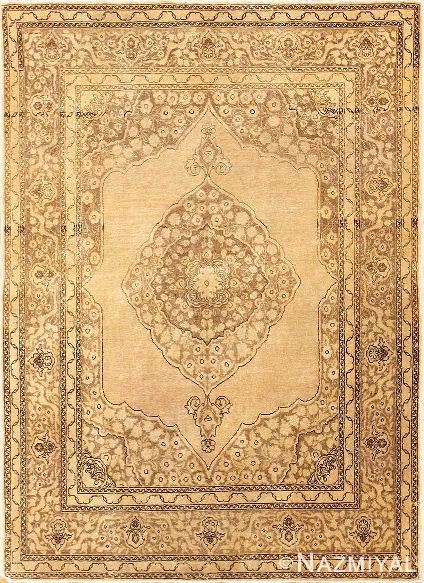Fine Scatter Size Antique Persian Tabriz Rug 50401 Nazmiyal