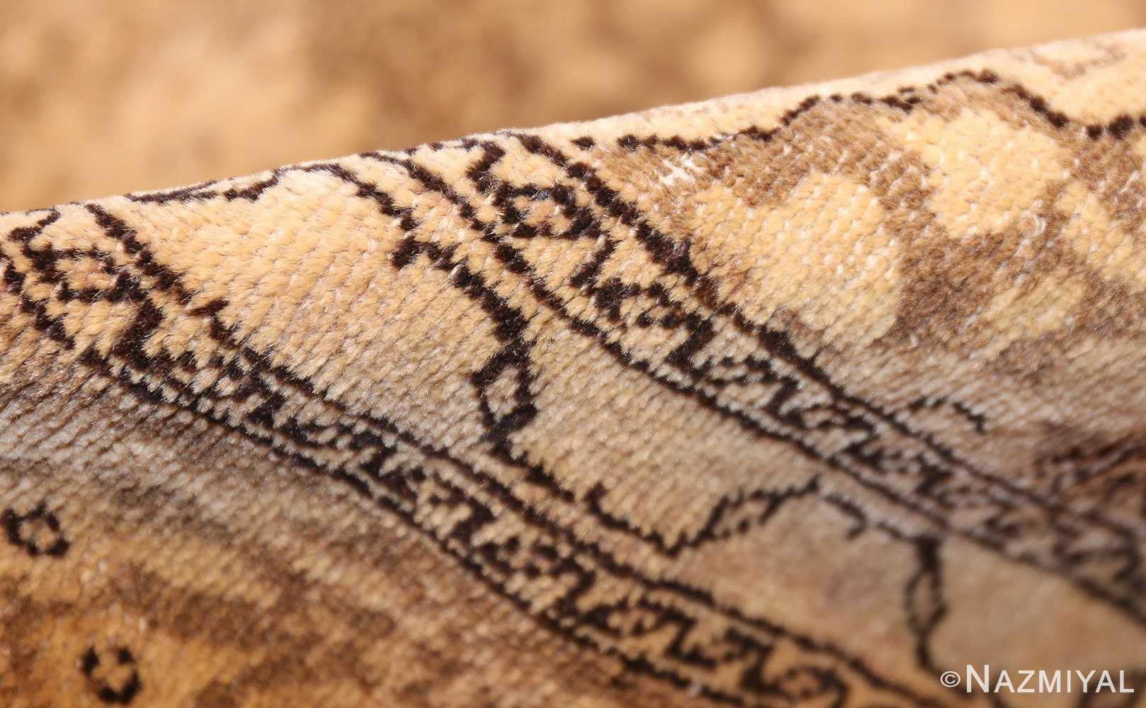 fine scatter size antique persian tabriz rug 50401 pile Nazmiyal