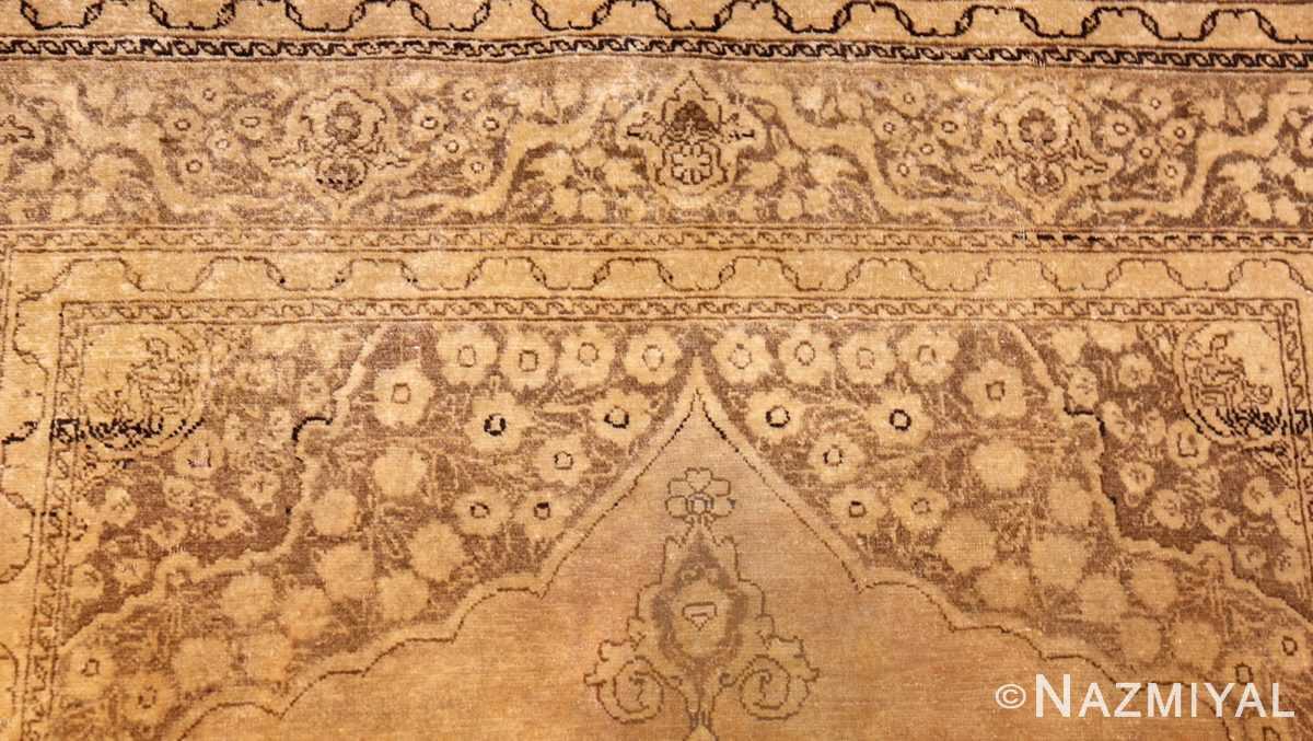 fine scatter size antique persian tabriz rug 50401 top Nazmiyal