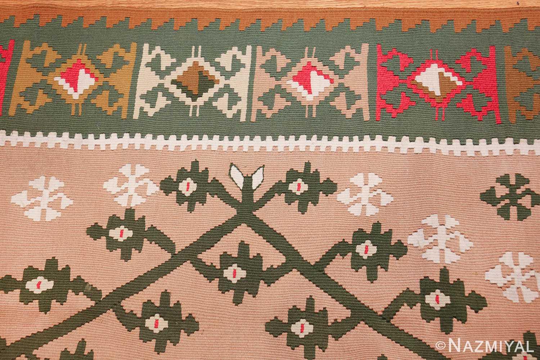 flat woven vintage bessarabian kilim rug 50433 border Nazmiyal
