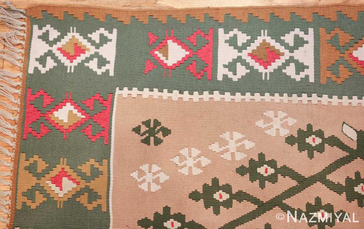 flat woven vintage bessarabian kilim rug 50433 corner Nazmiyal