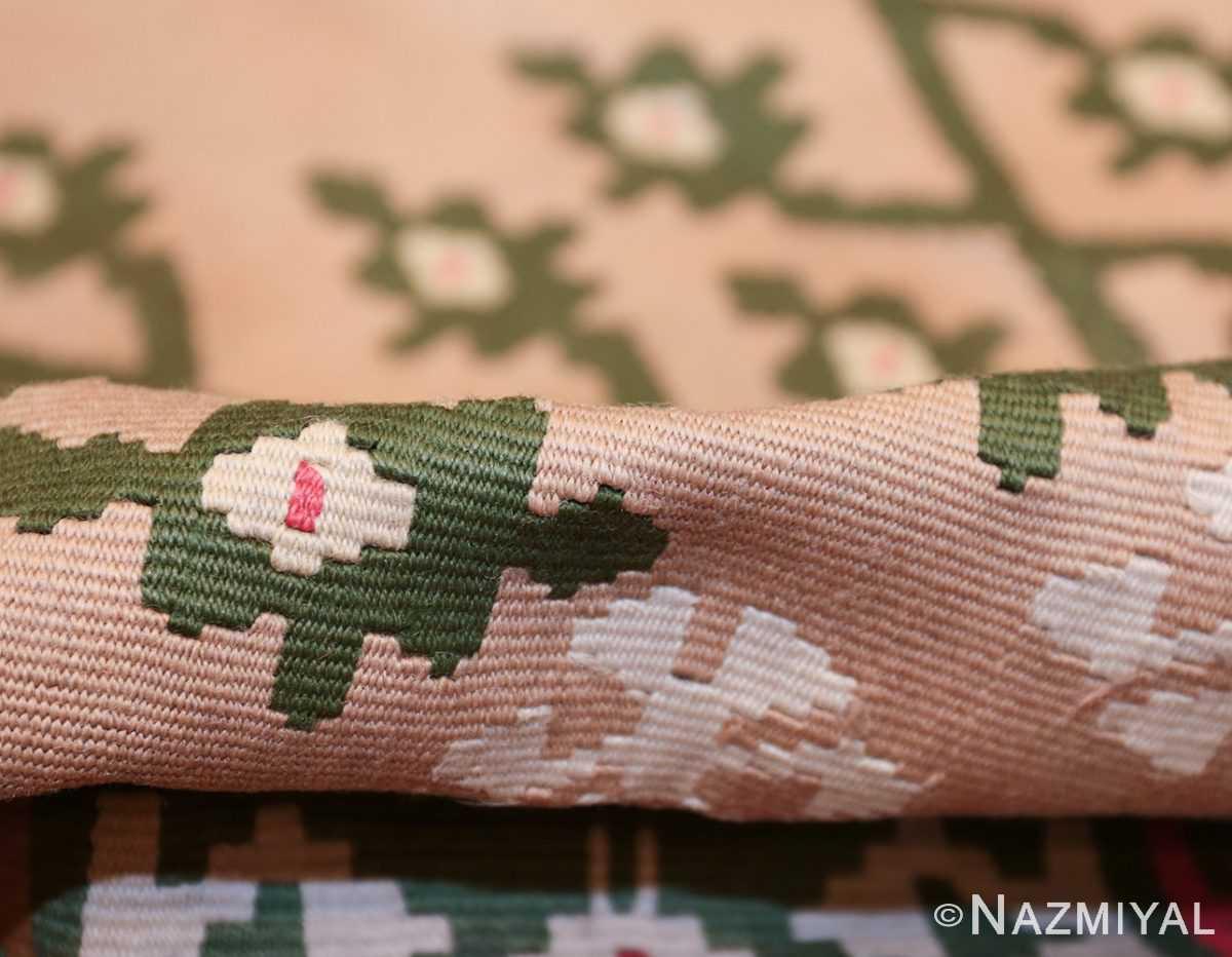 flat woven vintage bessarabian kilim rug 50433 pile Nazmiyal