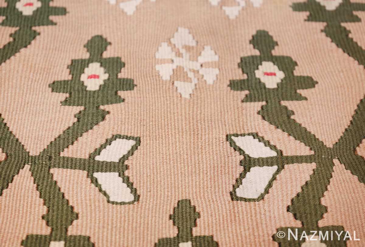 flat woven vintage bessarabian kilim rug 50433 sign Nazmiyal