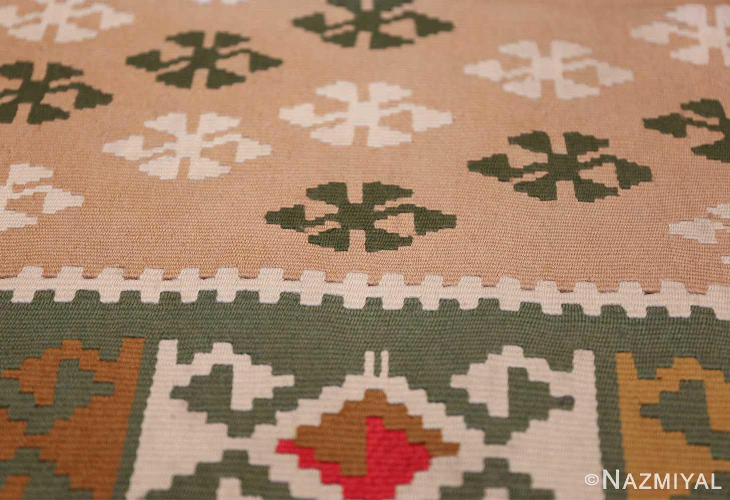flat woven vintage bessarabian kilim rug 50433 star Nazmiyal