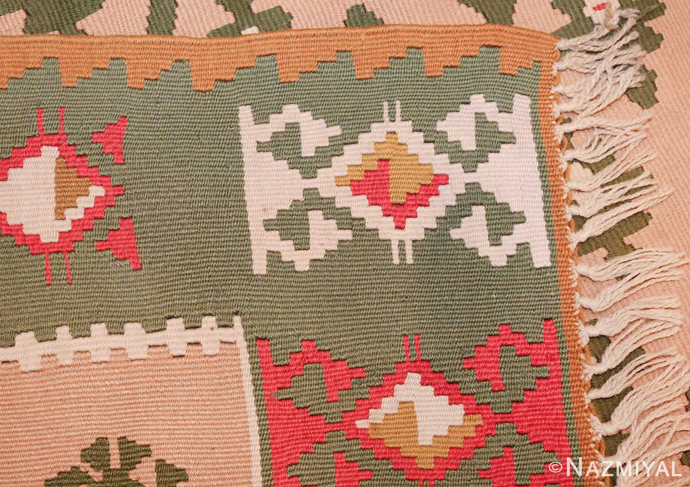 flat woven vintage bessarabian kilim rug 50433 weave Nazmiyal
