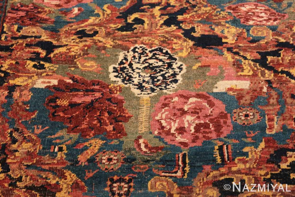 Flower detail Antique Golfarang Persian Bidjar runner rug 48630 by Nazmiyal
