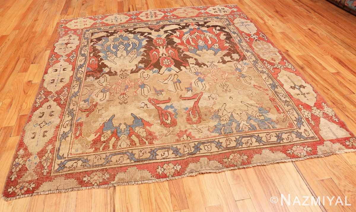 Full Antique 17th Century Smyrna Turkish Oushak rug 48663 by Nazmiyal