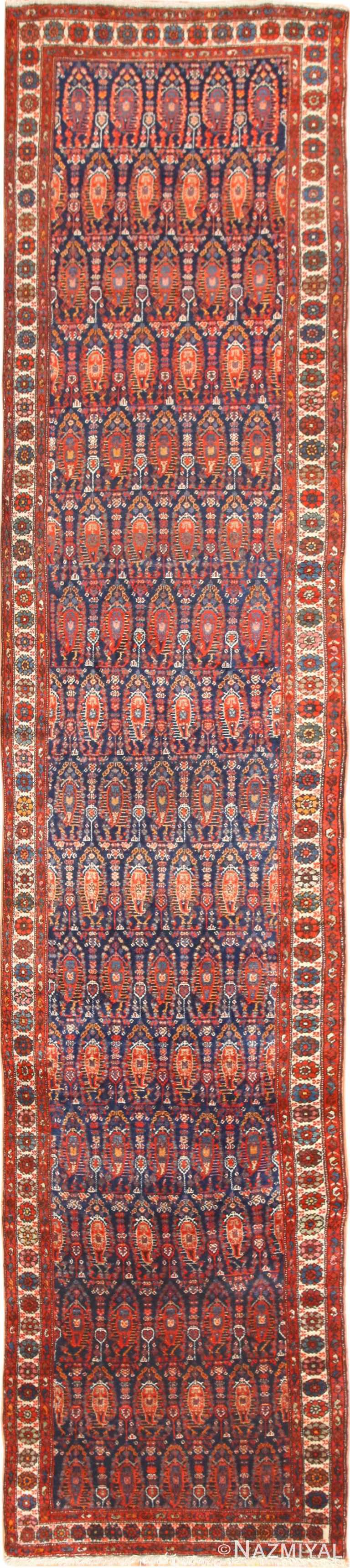 Full view Antique Persian Malayer hallway runner rug 50408 by Nazmiyal