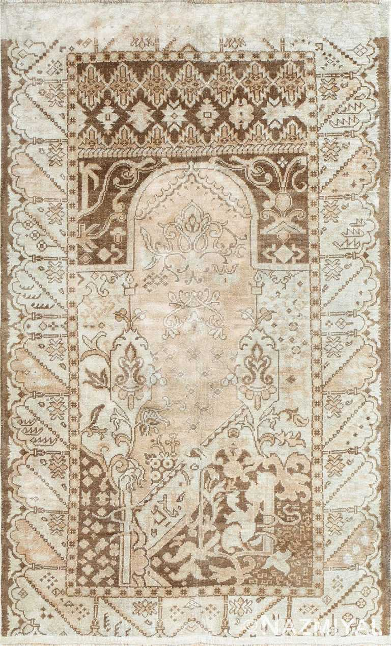 Geometric Antique Turkish Ghiordes Rug 50290 Nazmiyal
