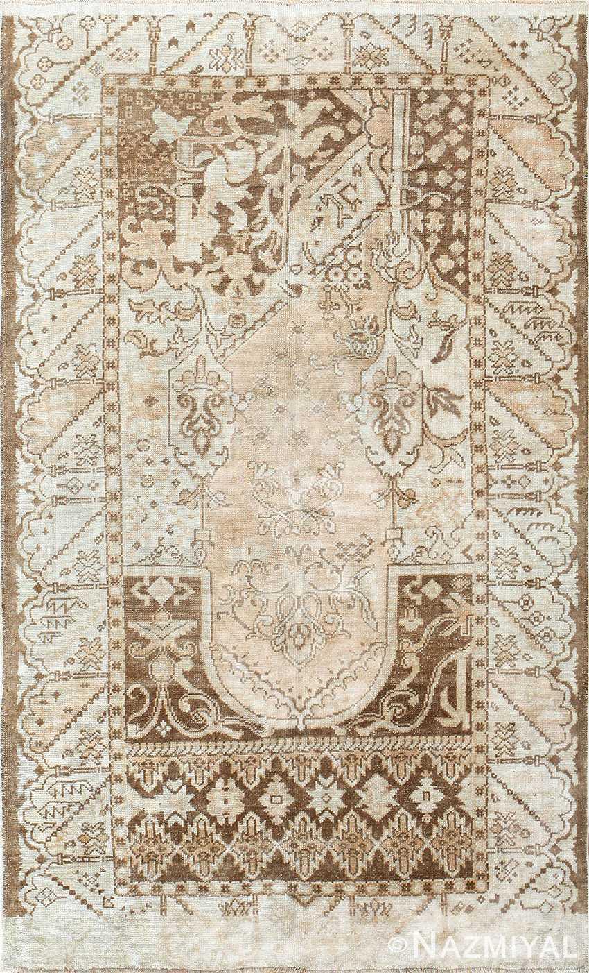 Geometric Antique Turkish Ghiordes Rug 50290 Nazmiyal