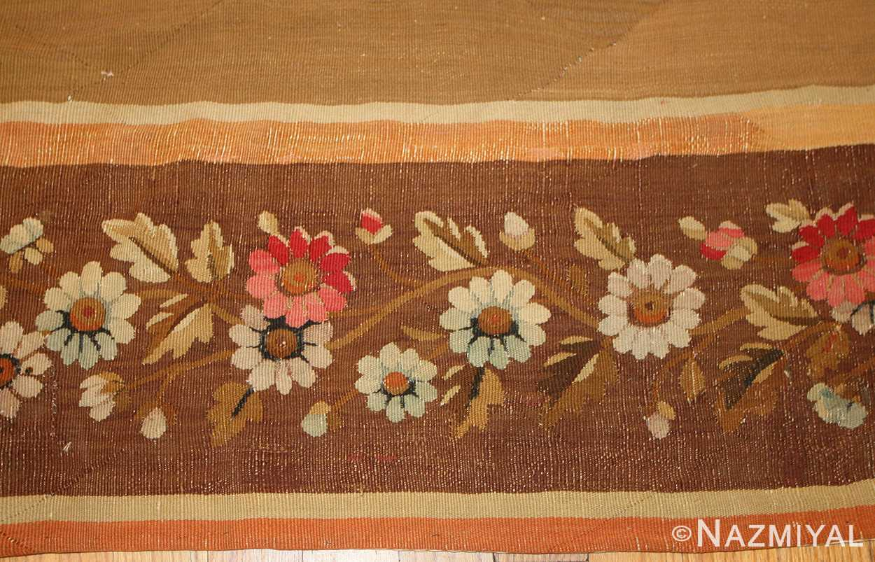 large antique french aubusson carpet 50430 border Nazmiyal