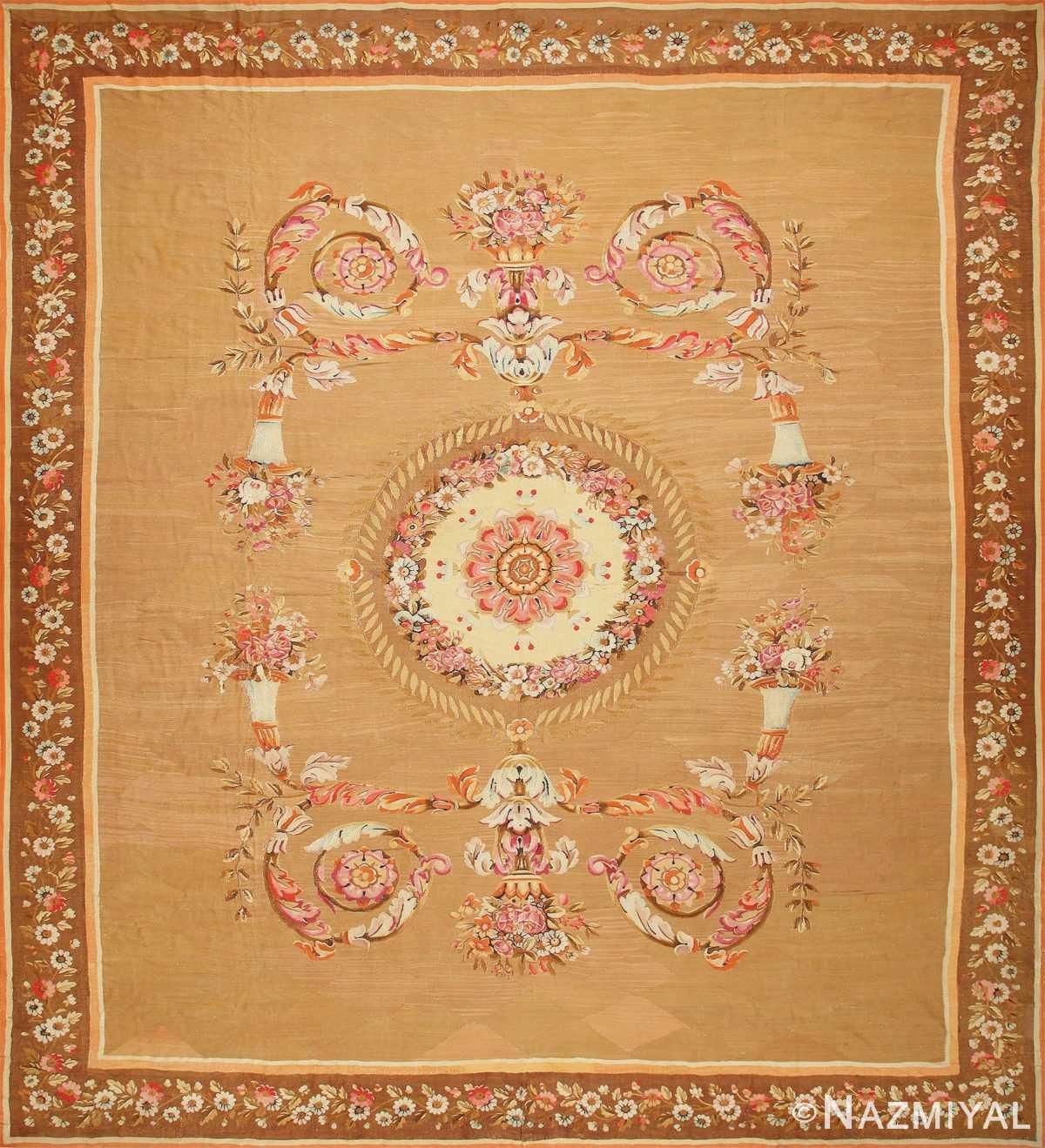 Large Antique French Aubusson Carpet 50430 Nazmiyal