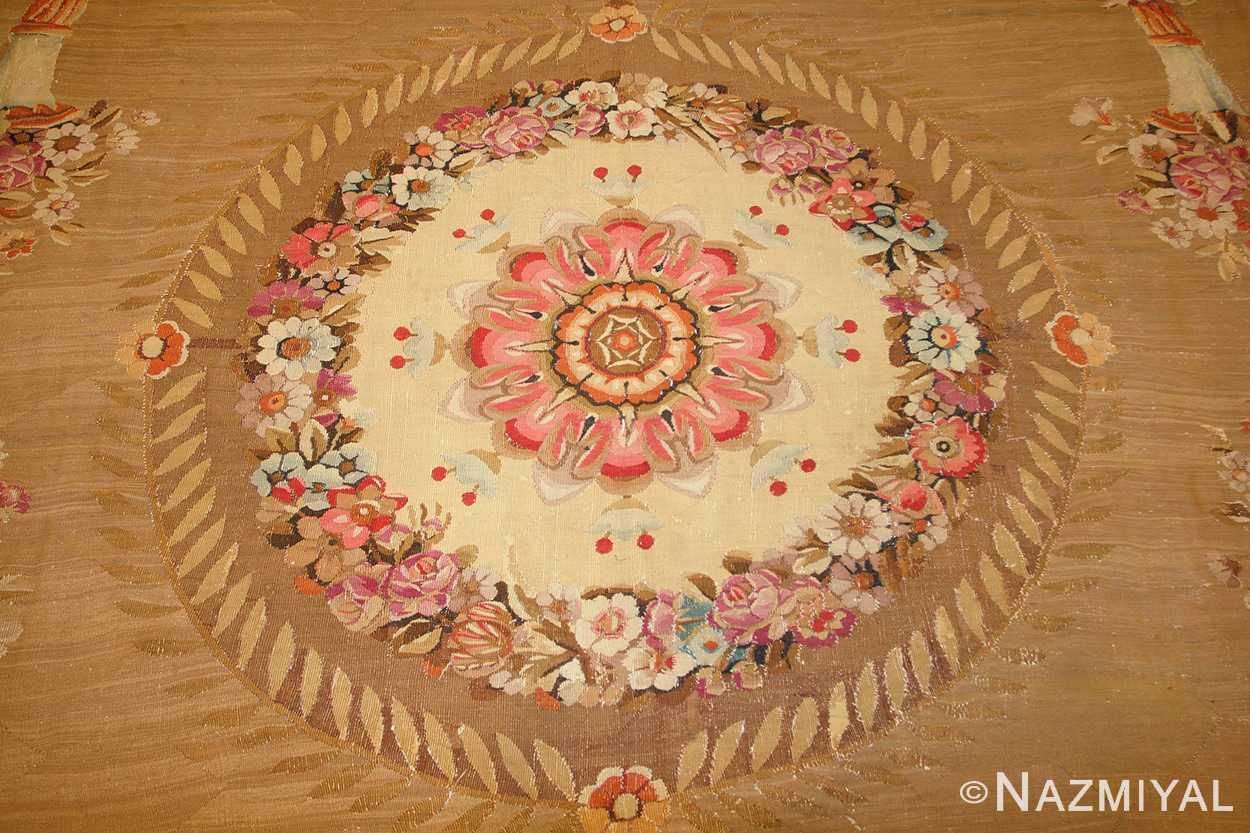 large antique french aubusson carpet 50430 medallion Nazmiyal