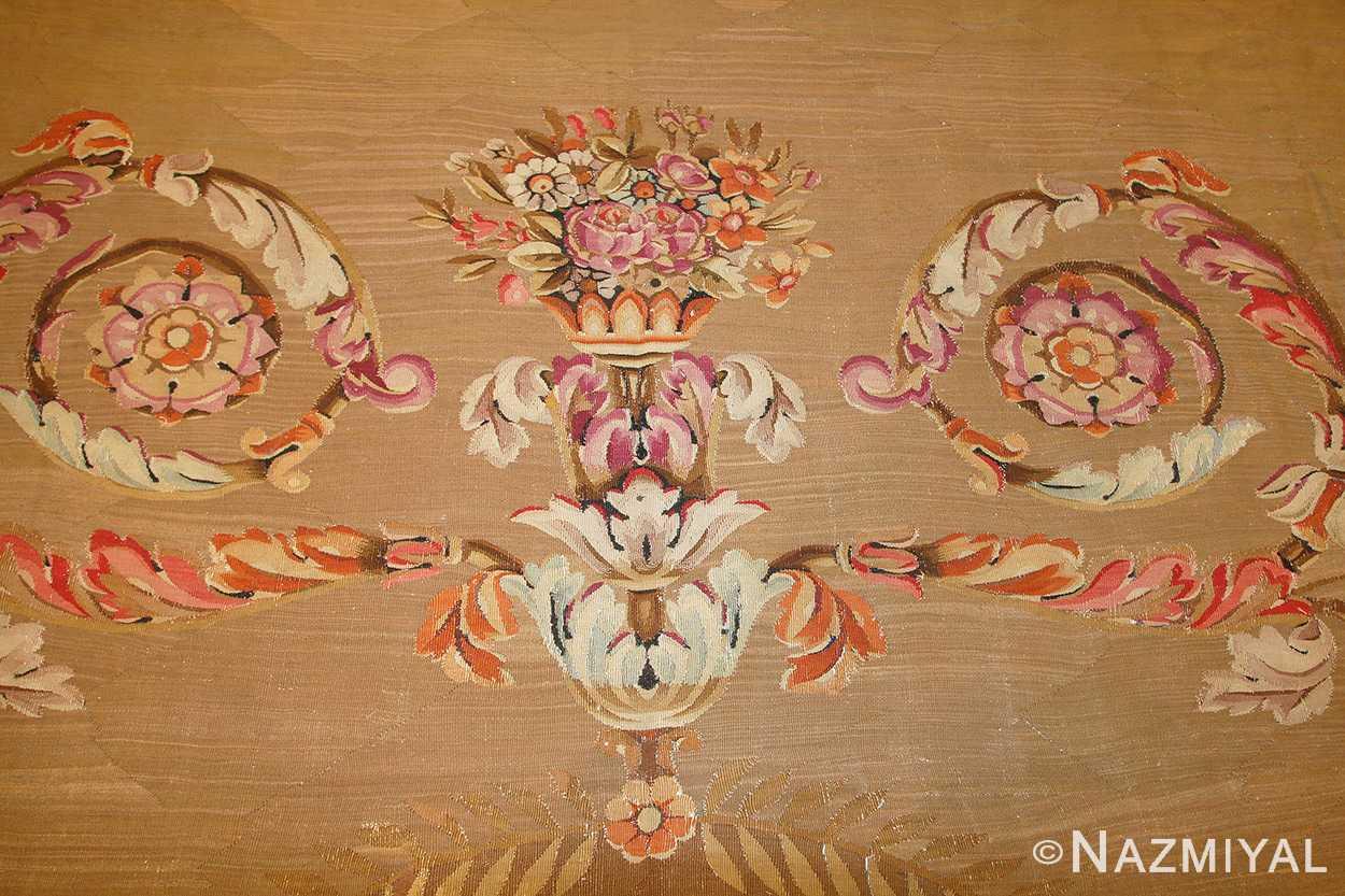 large antique french aubusson carpet 50430 vase Nazmiyal