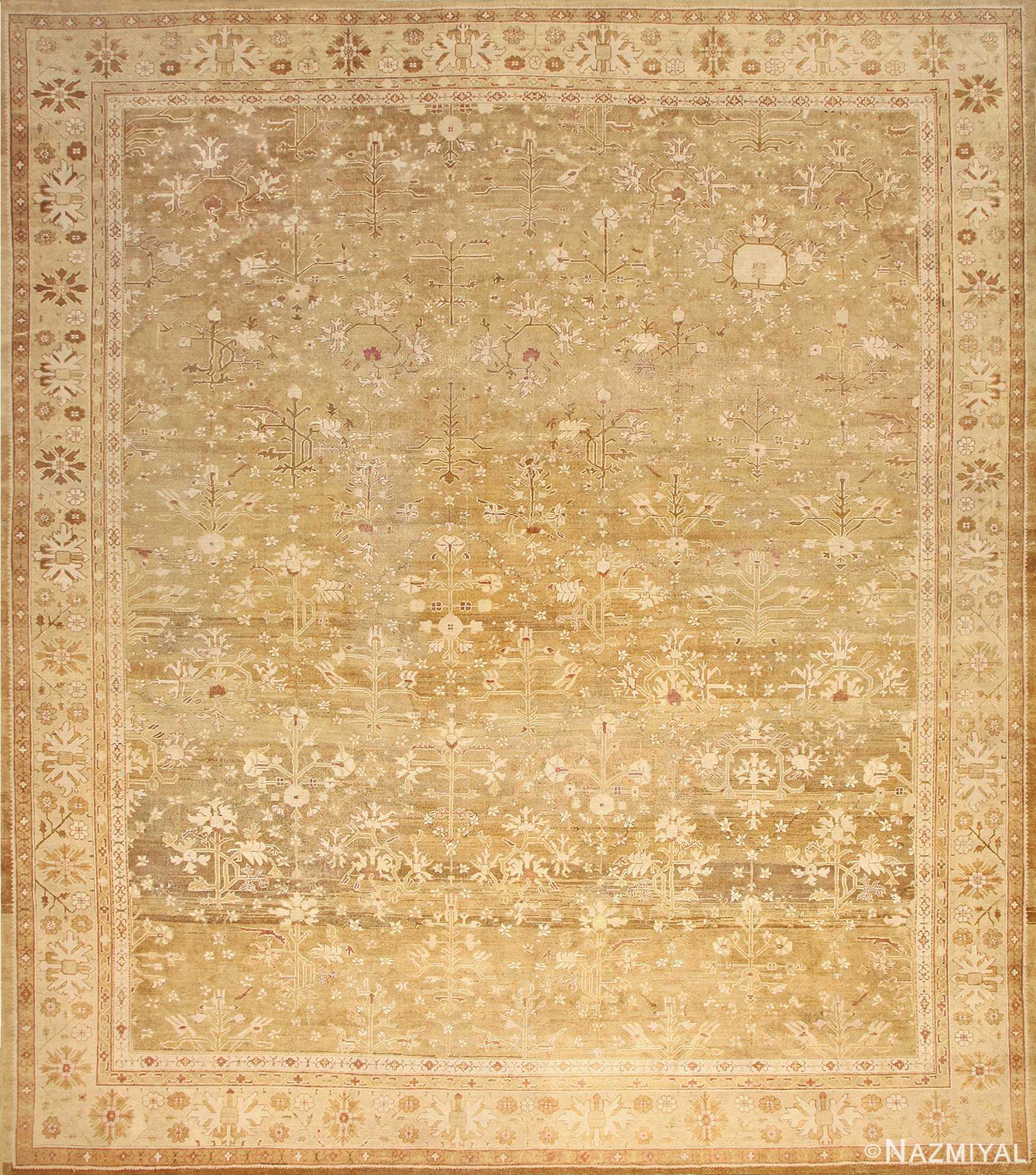 Large Antique Indian Amritsar Rug 50378 Nazmiyal