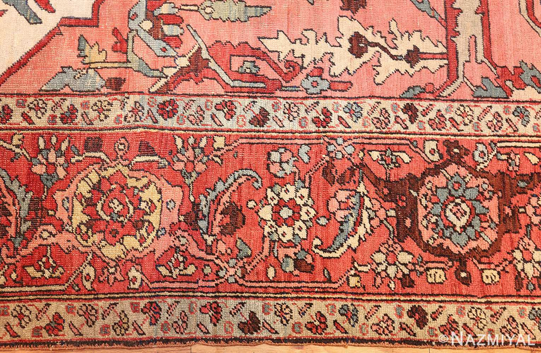 large antique persian serapi rug 48645 border Nazmiyal