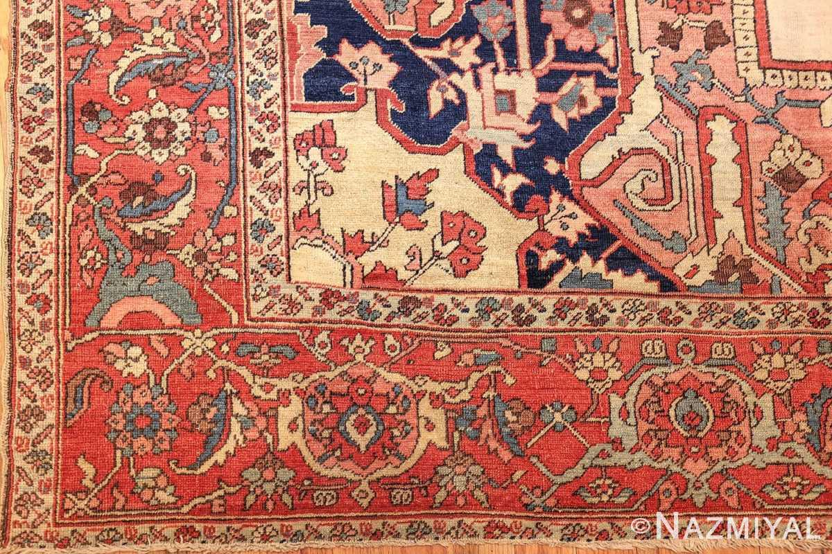 large antique persian serapi rug 48645 corner Nazmiyal
