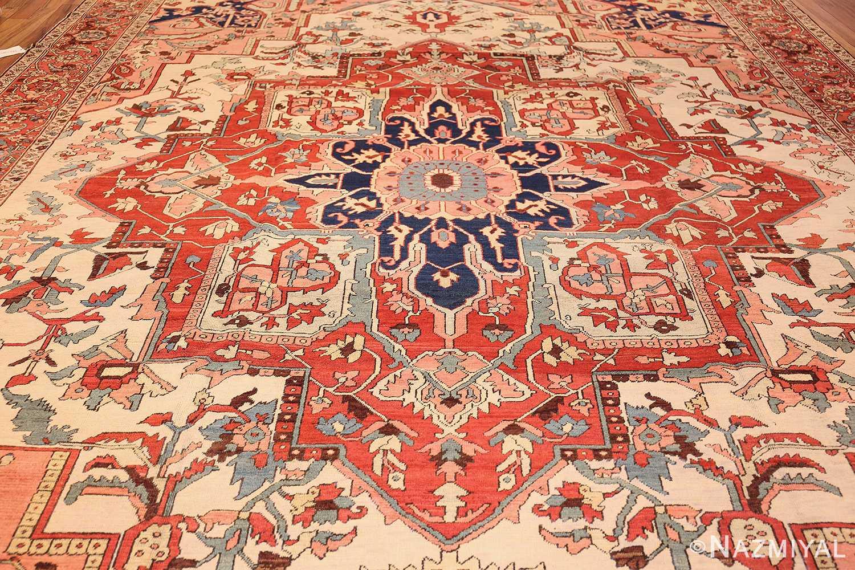 large antique persian serapi rug 48645 field Nazmiyal