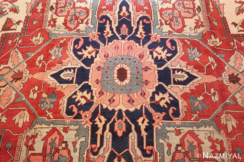 large antique persian serapi rug 48645 medallion Nazmiyal