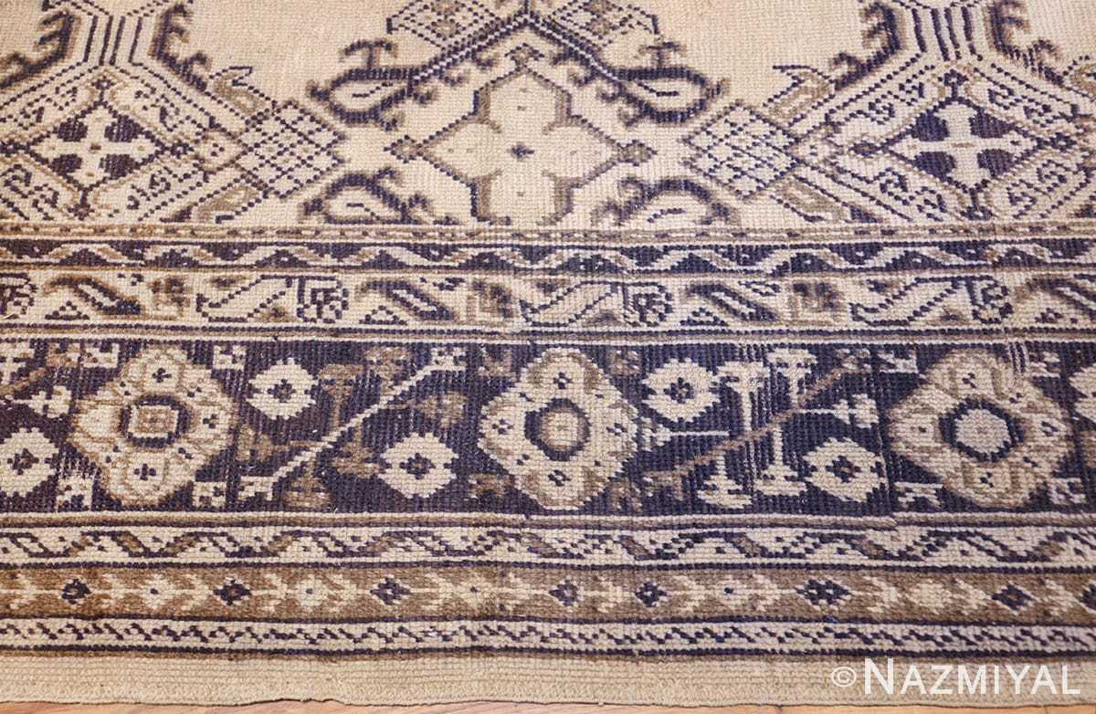 large ivory antique turkish oushak rug 47172 border Nazmiyal