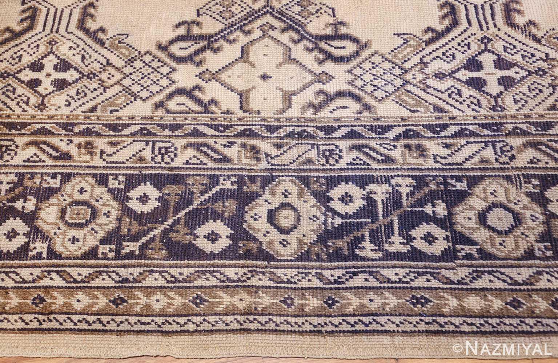 large ivory antique turkish oushak rug 47172 border Nazmiyal