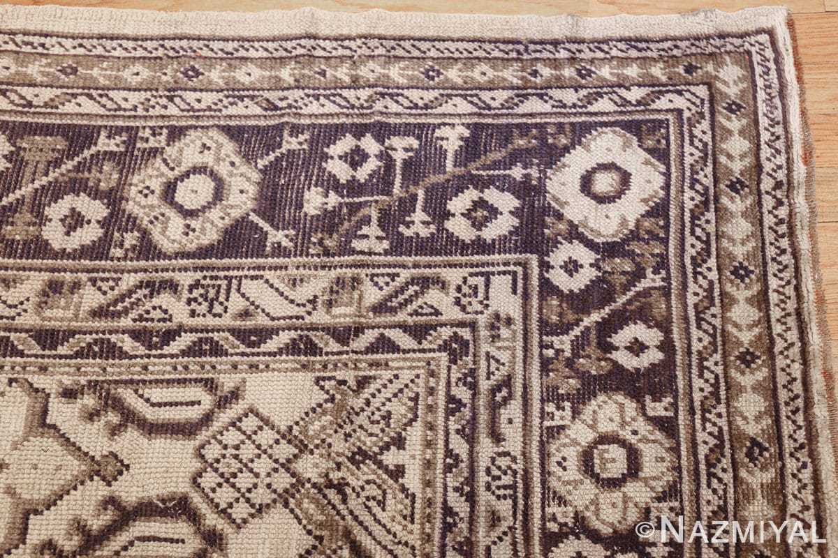 large ivory antique turkish oushak rug 47172 corner Nazmiyal
