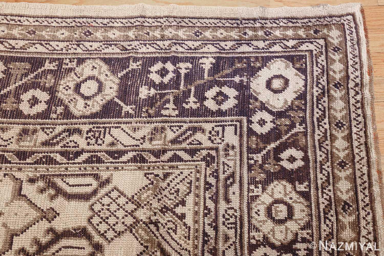 large ivory antique turkish oushak rug 47172 corner Nazmiyal