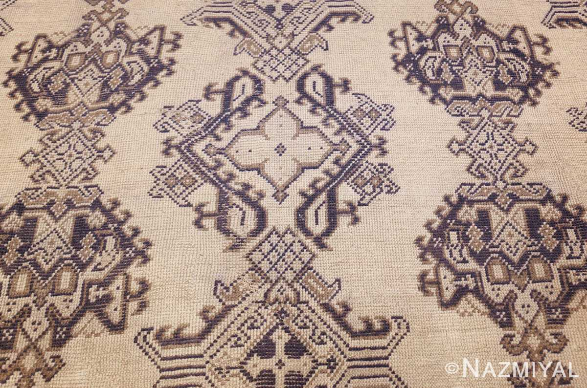 large ivory antique turkish oushak rug 47172 middle Nazmiyal