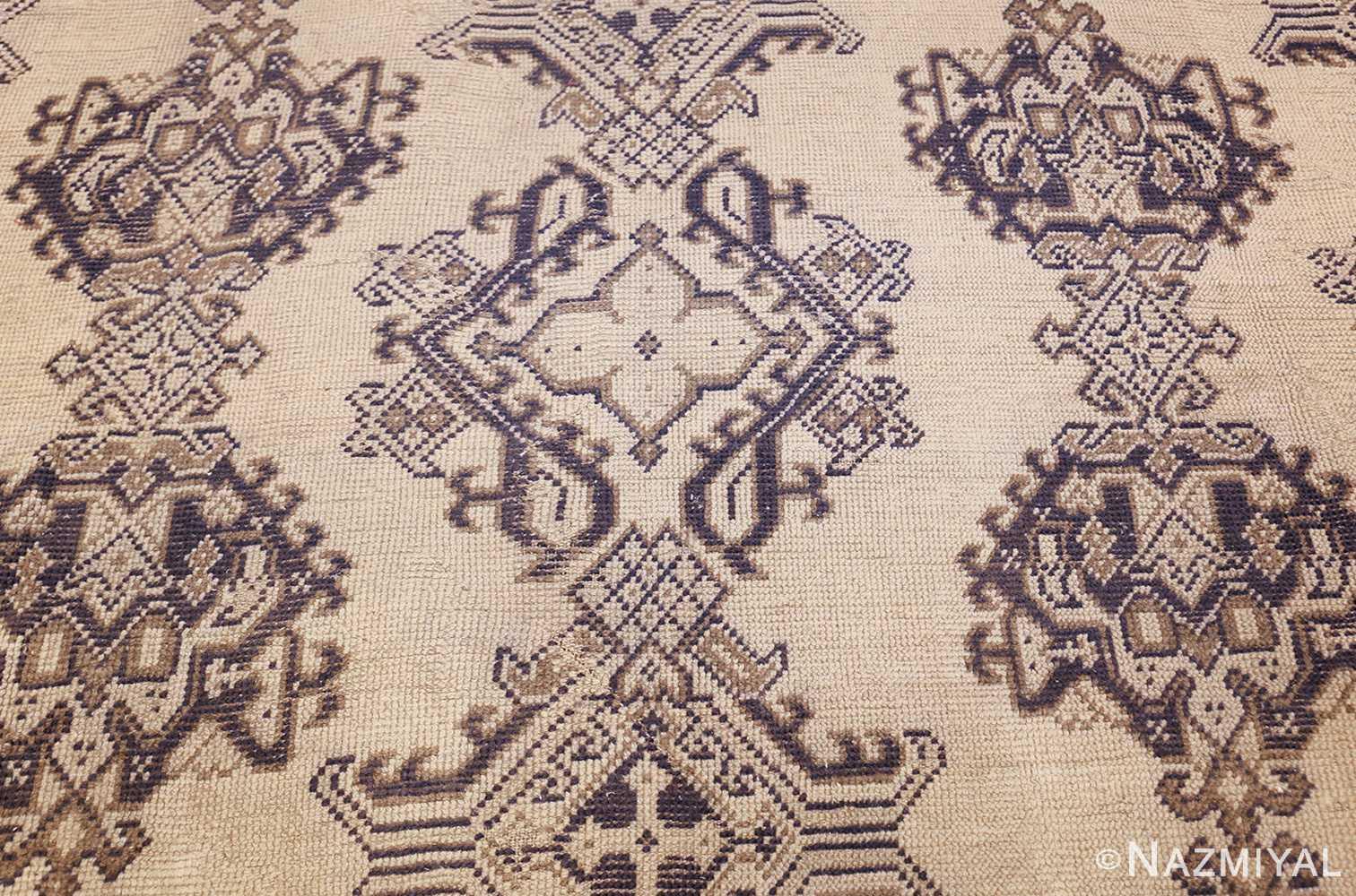 large ivory antique turkish oushak rug 47172 middle Nazmiyal