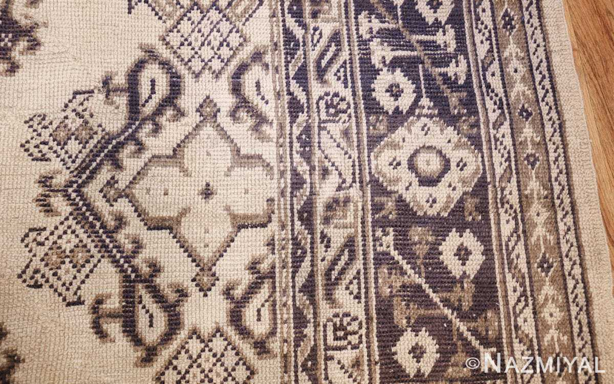 large ivory antique turkish oushak rug 47172 side Nazmiyal
