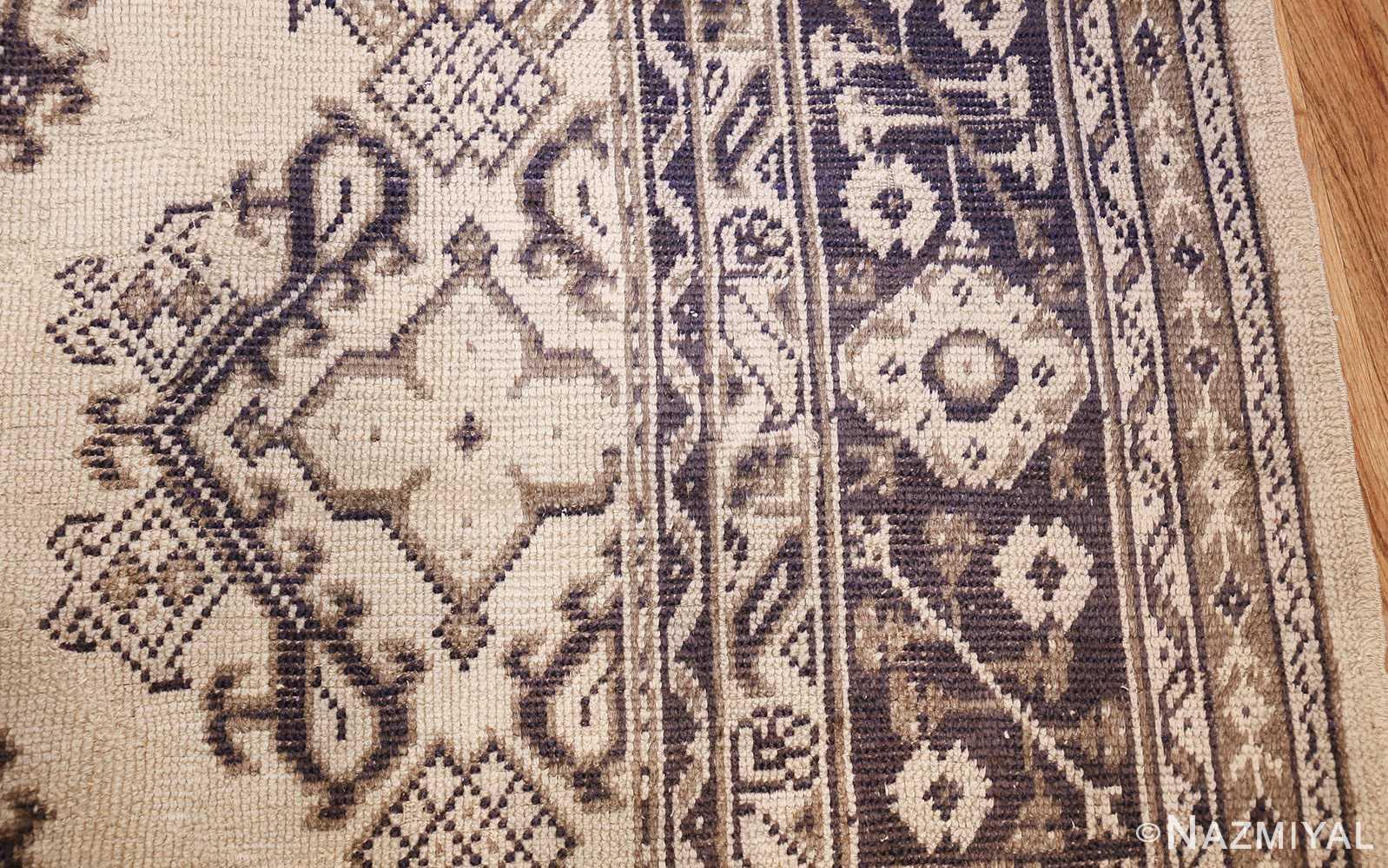 large ivory antique turkish oushak rug 47172 side Nazmiyal