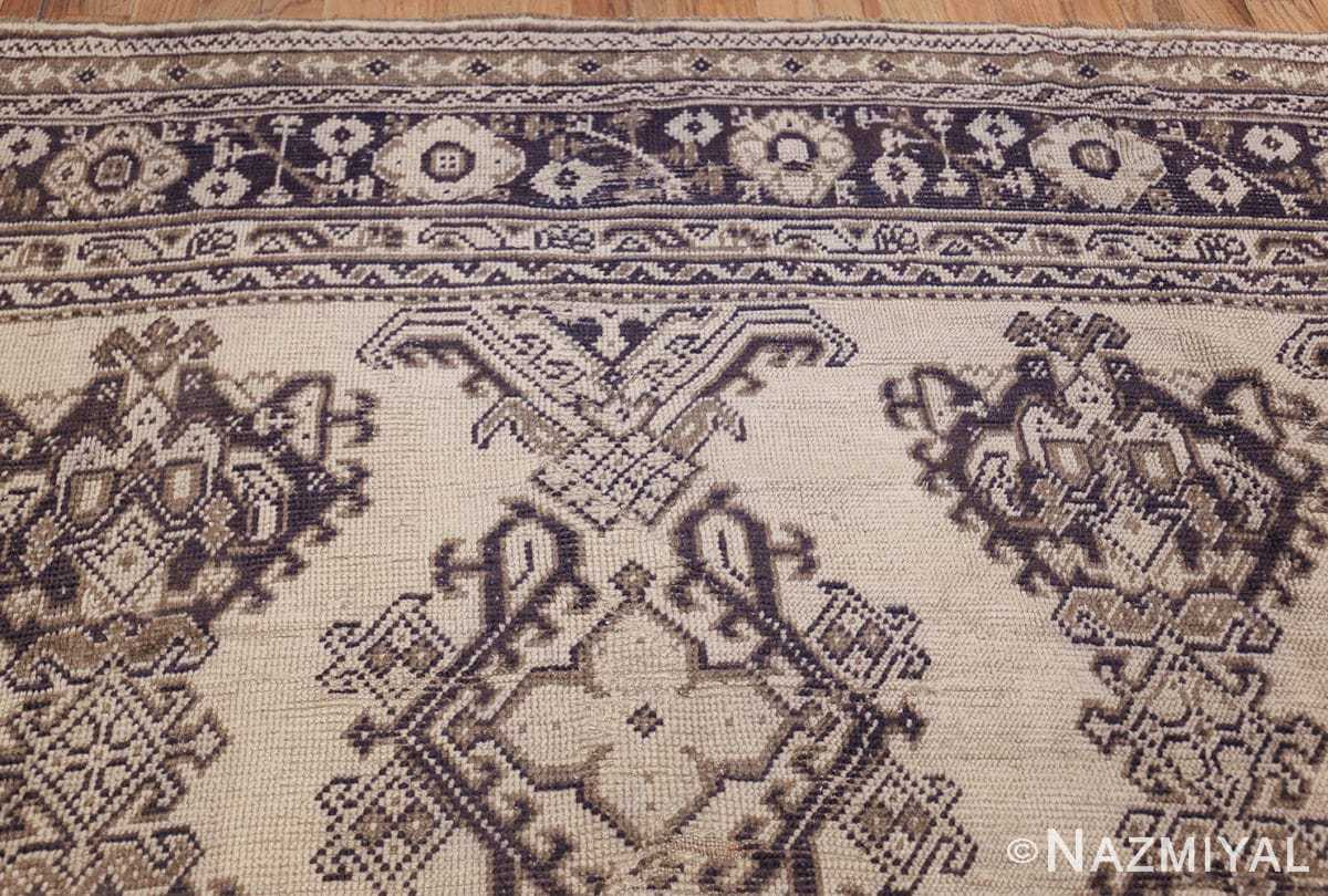 large ivory antique turkish oushak rug 47172 top Nazmiyal
