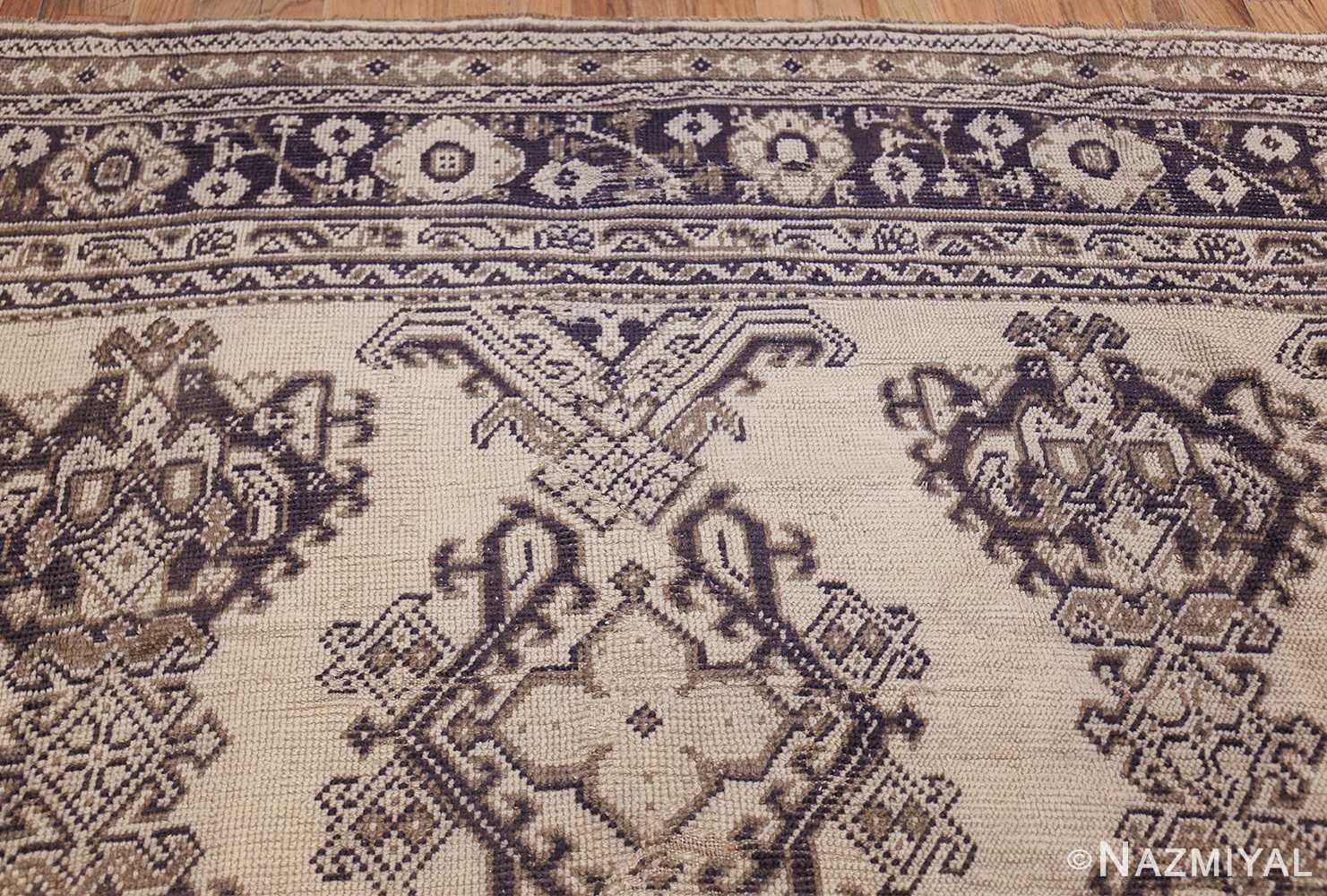 large ivory antique turkish oushak rug 47172 top Nazmiyal