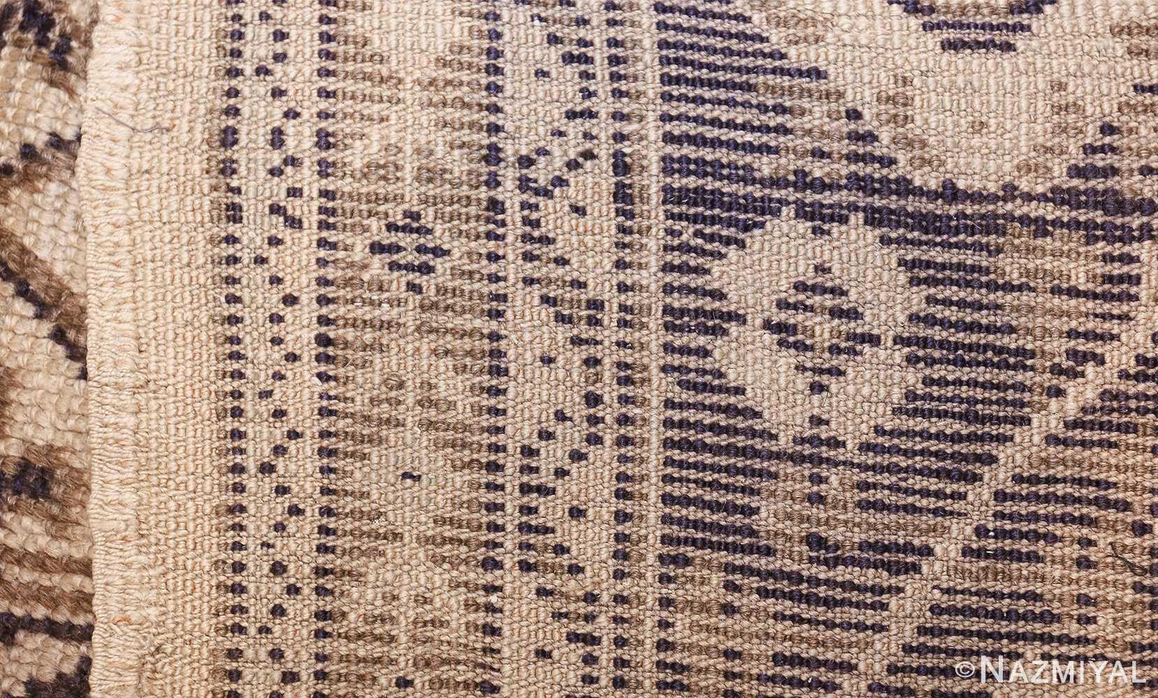 large ivory antique turkish oushak rug 47172 weave Nazmiyal